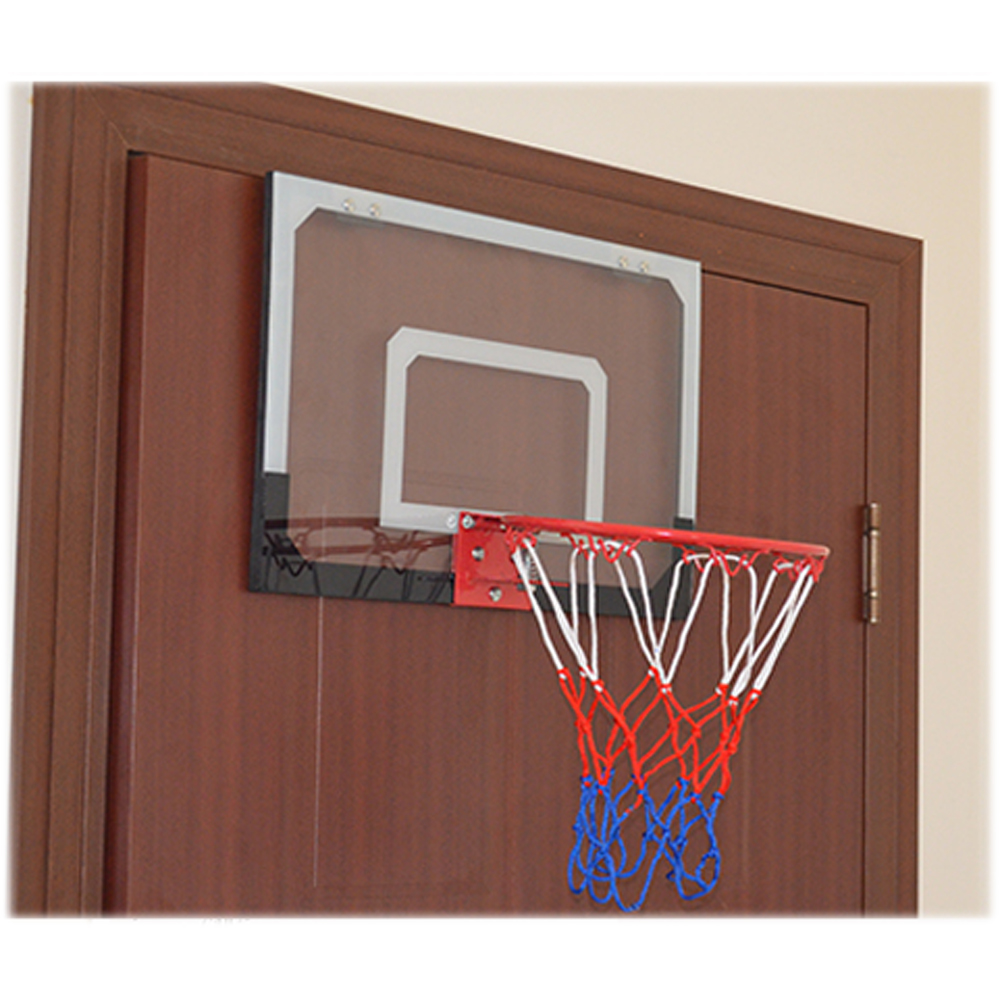 The HY-013-B66 Kid Wall Mount Clear Basketball Backboard with Basketball u0026 Pump brings the experience of the hard court to your home! & Basketball Hoop Over The Door Backboard Indoor Office Play Ball Net ...