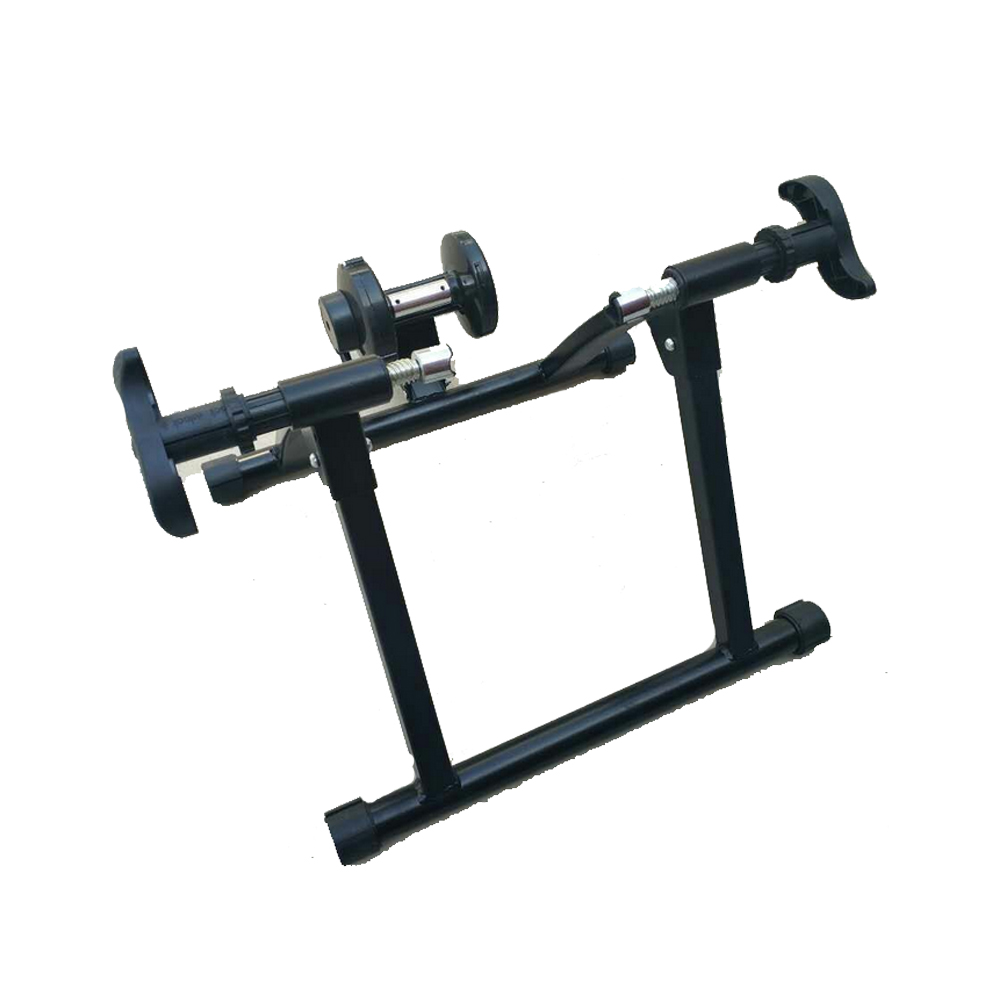 the wireless magnetic resistance bicycle trainer bike stand with accessories makes it possible for you to have bicycle training indoors