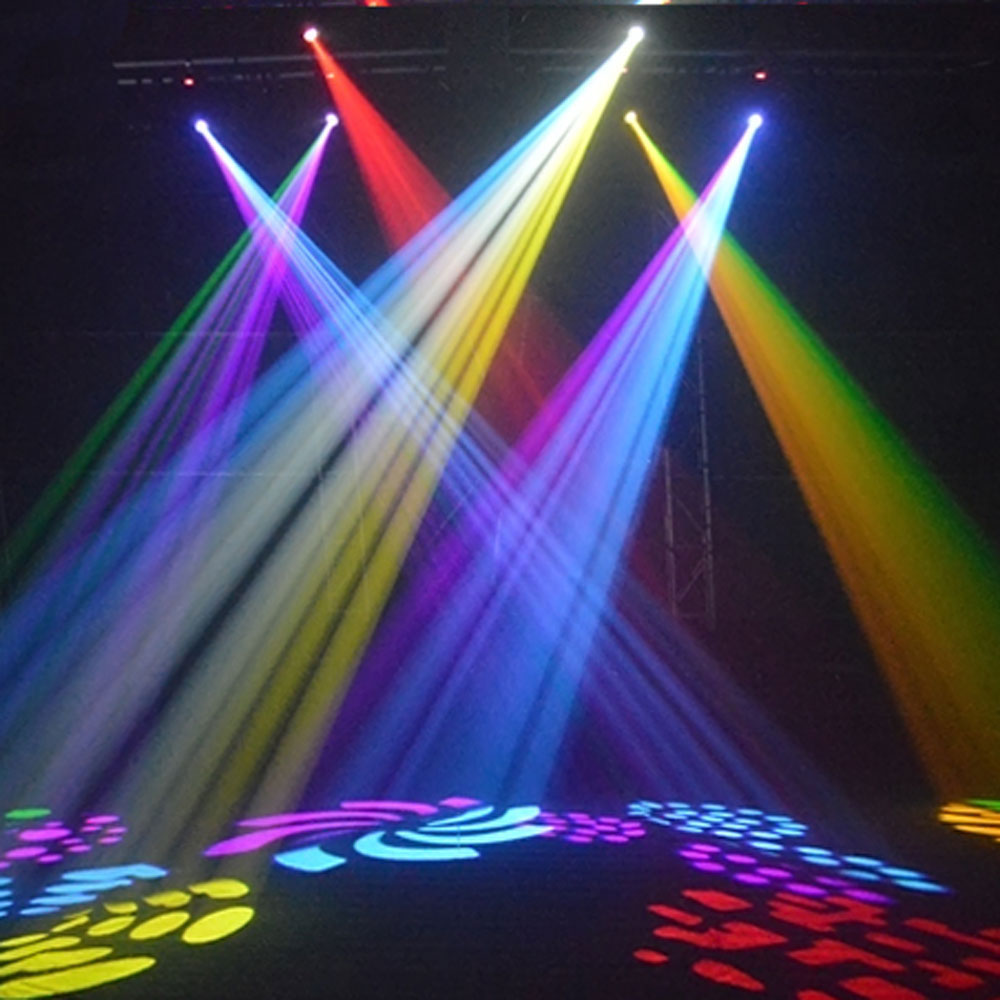 1 8pcs 50w Rgbw Led Moving Head Stage Lighting Dmx 512 Dj