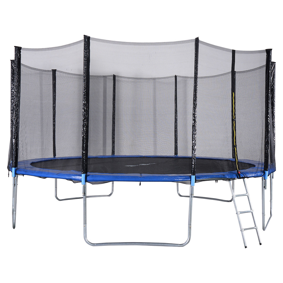 New Heavy Duty Trampoline 14 Ft With Ladder Safety Net: New 15FT Trampoline Combo Bounce Jump Safety Enclosure Net