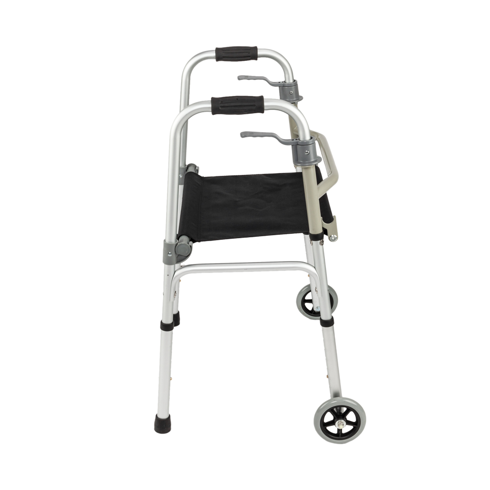 Super Details About Front Wheeled Walker Folding Deluxe With Seat And 5 Wheels Adjustable Height Bralicious Painted Fabric Chair Ideas Braliciousco