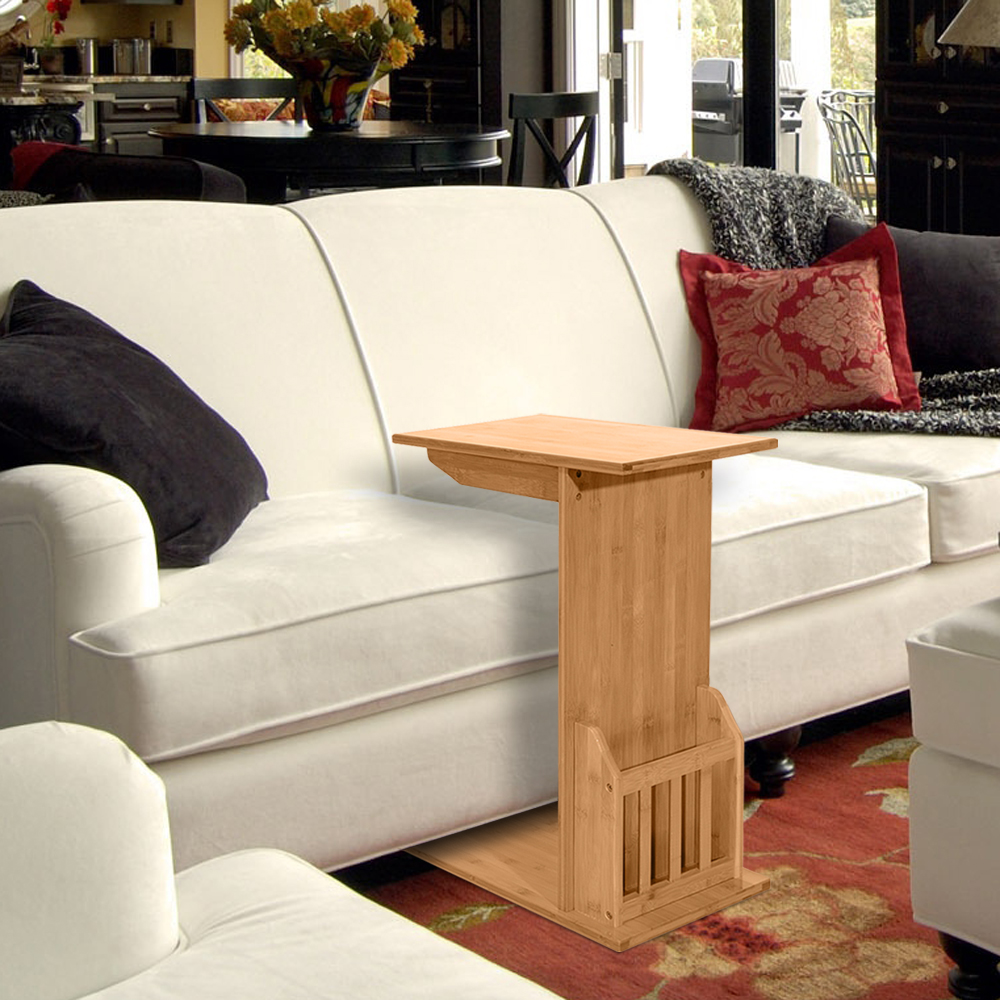 Laptop Table For Sofa: Modern Wood Snack Table Sofa Couch Coffee End Table Bed