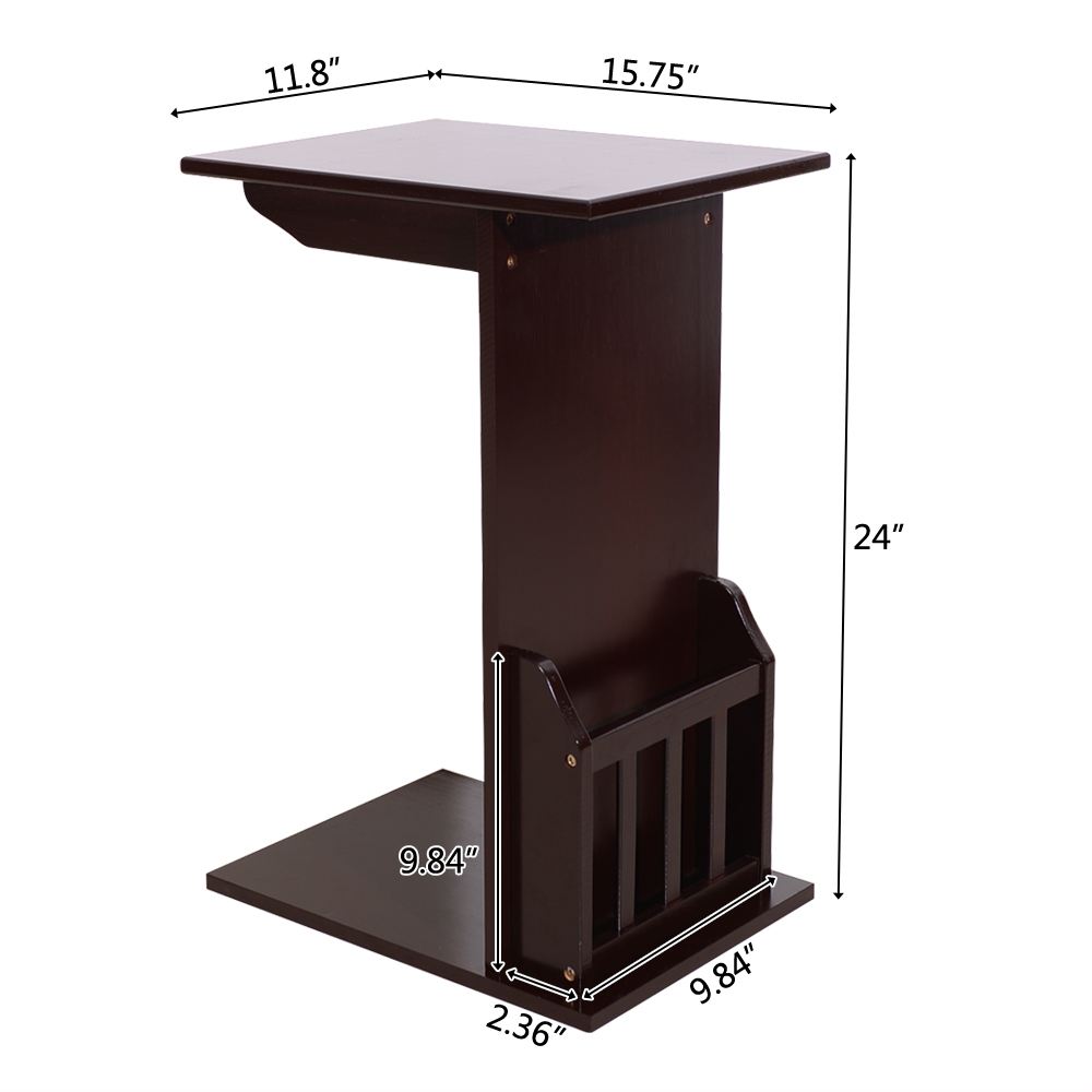 Details About Sofa Table End Side Table Console Snack Coffee Tray PC Laptop  Desk Coffee Color