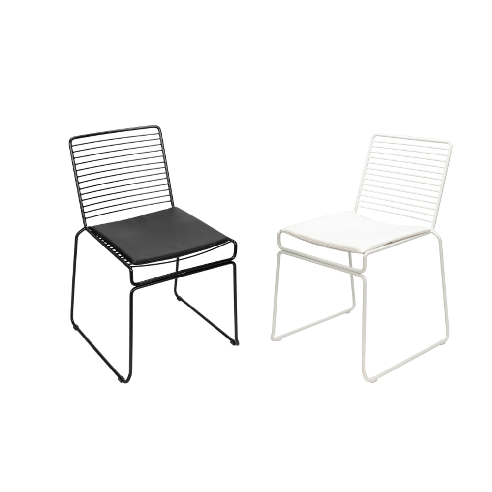 Excellent Details About New Set Of 2 Modern Iron Dining Chair Iron Wire Chair Cafe Chair White Black Caraccident5 Cool Chair Designs And Ideas Caraccident5Info