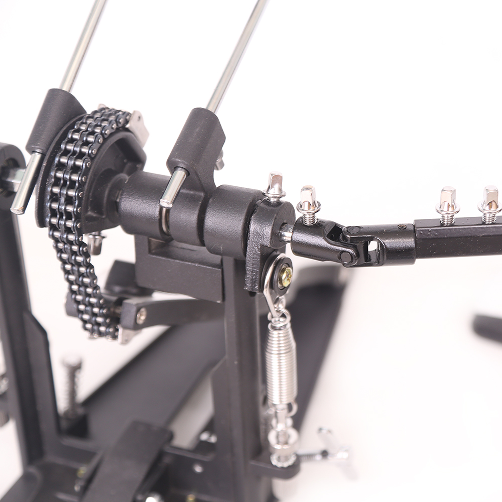 double bass drum pedal by griffin twin kick drum pedal dual chain percussion ebay. Black Bedroom Furniture Sets. Home Design Ideas
