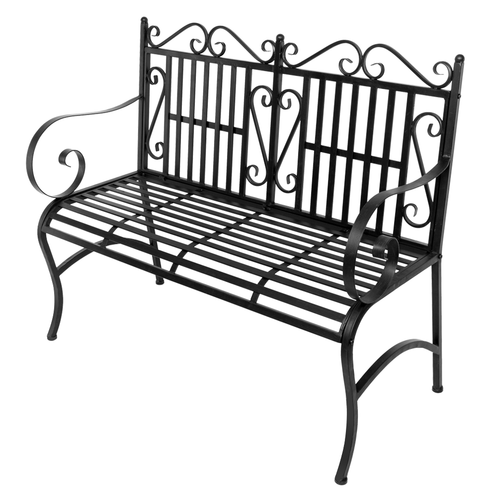 Surprising Details About Garden Bench Metal Outdoor Patio Furniture Back Yard Iron Porch Seat Steel Pabps2019 Chair Design Images Pabps2019Com
