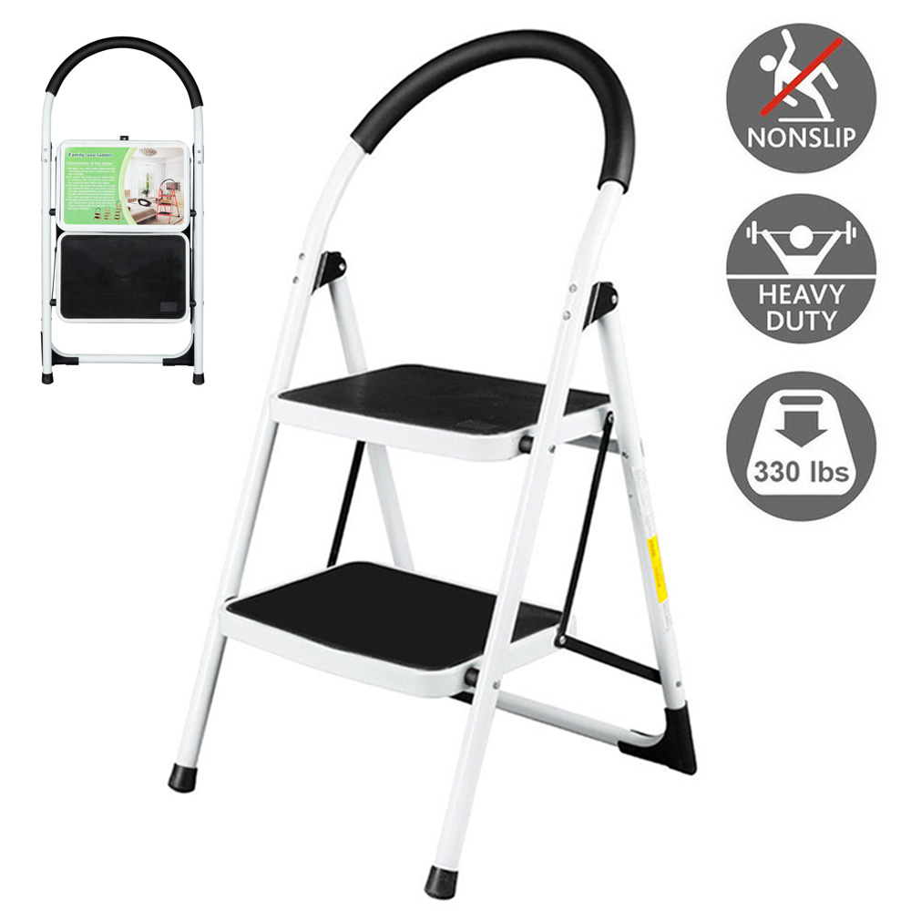 Outstanding Details About High Quality 2 Step Ladder Folding Steel Step Stool Anti Slip 330Lbs Capacity Creativecarmelina Interior Chair Design Creativecarmelinacom