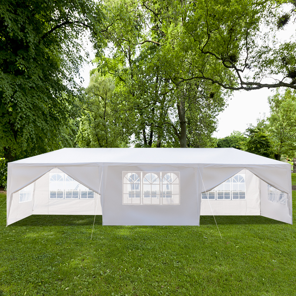 Details About 10u0027x30u0027 Outdoor Gazebo Canopy Tent Wedding Party Tent Patio  /w 8 Removable Walls