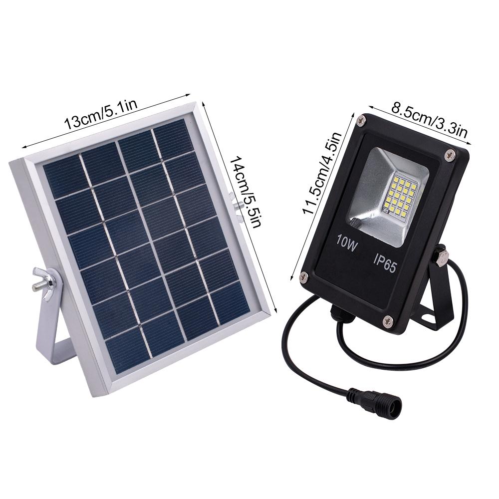 10w Solar Power Led Flood Light Outdoor Garden Waterproof