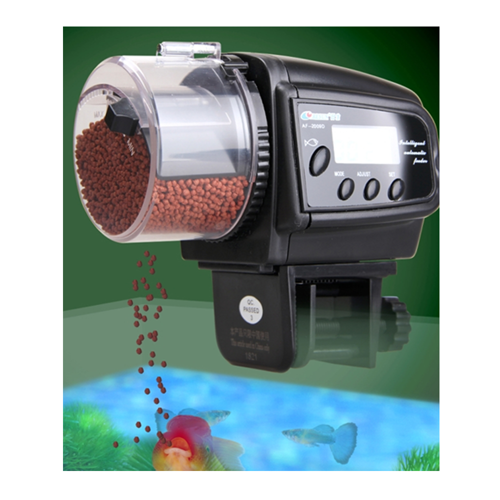 Digital automatic auto aquarium tank pond fish timer food for Fish feeder timer