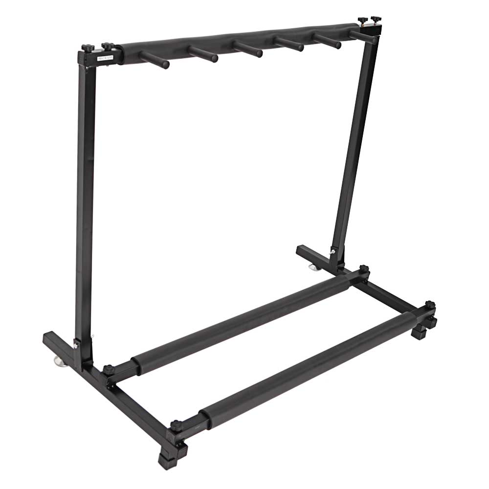 new adjustable width 5 triple folding multiple guitar holder rack stand ebay. Black Bedroom Furniture Sets. Home Design Ideas