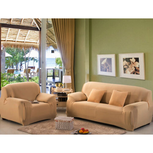 New Strech Cover Sofa Lover Seat Home Living Room Decoration Beige Protection