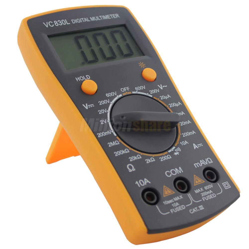 Ohmmeter To Measure Ohms : Best vc l lcd display digital multimeter volt amp ohm